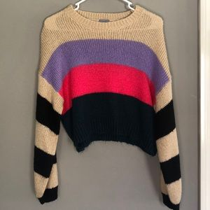 Charlotte Russe, S, cropped striped sweater
